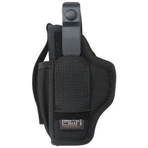 "Uncle Mike's Ambidextrous Sidekick Hip Holster Medium Large Frame Autos 3-1/4"" to 3-3/4"" Barrels Size 16 Nylon Black"