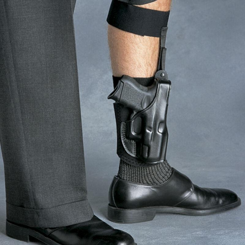 Galco Ankle Glove Kimber Micro 9 Ankle Holster Left Hand Premium Steerhide/Nylon Black