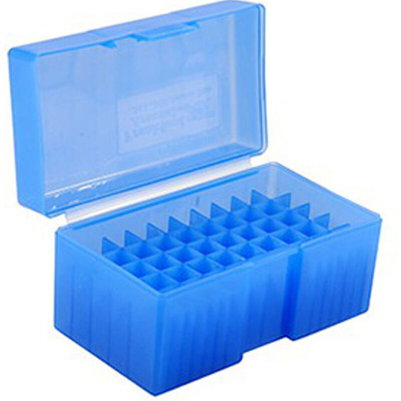 Frankford Arsenal Plastic 50 Round Hinge-Top Ammo Boxes Fits .44 Magnum/ .45 Colt Polymer Gray