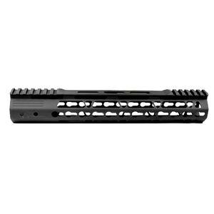 "JE Machine AR-15 12"" KeyMod Style Free Float Handguard with Rail Relief Cutouts Aluminum Black"