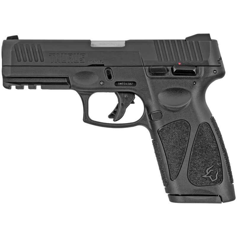 """Taurus G3 9mm Luger Semi Auto Pistol 4"""" Barrel 17 Rounds Single Action with Restrike 3-Dot Sights Thumb Safety Black Polymer Frame Black Finish"""