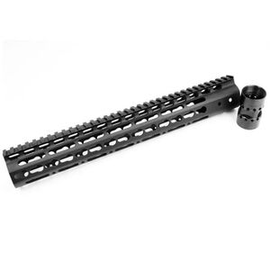 "Noveske NSR AR-15 13.5"" Free Float KeyMod Rail 1913 Picatinny Continuous Top Rail Aluminum Hard Coat Anodized Matte Black NSR-13.5"