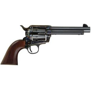 "Cimarron Firearms Frontier Single Action Revolver .38 Special/.357 Magnum 5.5"" Barrel 6 Rounds Walnut Grips Steel Frame Color Case Hardened/Blued Barrel Finish"