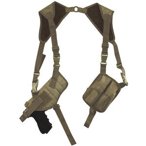 Fox Outdoor Tactical Shoulder Holster Universal Fit Ambidextrous Nylon Coyote Tan 58-178