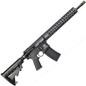 "Troy Industries CQB-SPC A3 Carbine AR-15 Semi Auto Rifle 5.56 NATO 16"" Barrel 30 Rounds KeyMod Hand Guard Collapsible Stock Matte Black"