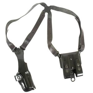 "Galco Vertical Shoulder Holster System 1911s 5"" Barrels Ambidextrous Leather Black VHS212B"