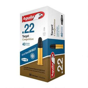 Aguila Target Competition .22LR Ammunition 40 Grain LRN 1080 fps