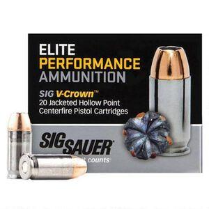 SIG Sauer .38 Super +P Ammunition 20 Rounds, V-Crown JHP, 125 Grains