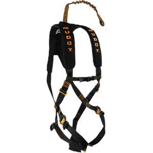 Muddy Diamondback Safety Hunting Harness Kit OSFA Light Weight Padded Nylon Black