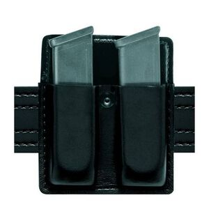 "Safariland Model 75 Double Magazine Pouch No Flaps Beretta/GLOCK/HK/SIG Sauer/S&W 2.25"" Duty Belt Width Vertical Belt Slot STX Tactical Black 75-83-13"