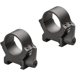 Leupold QRW2 Quick Release 2 Weaver/Cross Slot Style Scope Rings 34mm Tube Medium Height Machined Steel Matte Blac