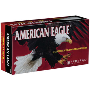 Federal American Eagle 9mm Luger Ammunition FMJ 124 Grains AE9AP 50 Rounds per Box
