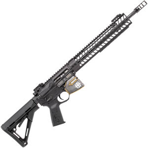 "Spikes Rare Breed Crusader 5.56 NATO AR-15 Semi Auto Rifle 16"" Barrel Crusader Helmet Billet Lower 12"" M-LOK Handguard Collapsible Stock Distressed Cerakote and Black Anodized Finish"