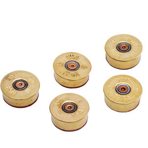 2 Monkey Trading Lucky Shot 12 Gauge Brass Magnets Package of Five