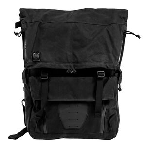 """Grey Ghost Gear Gypsy Commuter Backpack 19""""x16""""x4.5"""" Overall 1200 Total Cubic Inches Waxed Canvas Black"""