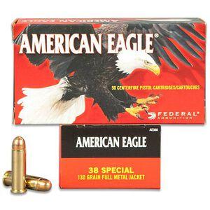 Federal American Eagle .38 SPL 130 Grain FMJ 50 Round Box