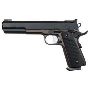 "Dan Wesson 1911 Bruin Semi Auto Pistol 10mm Auto 6.3"" Barrel 8 Rounds Fiber Optic Front Sight G-10 Grips Stainless Steel Frame Black/Bronze Duty Finish"