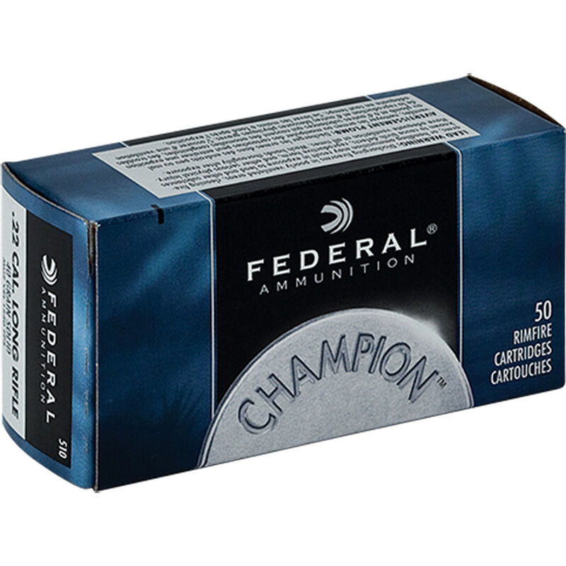 50 Round Box .22 LR Federal 40 Grain Champion Target Lead Solid Core 1240 fps 510