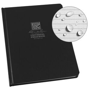 """Rite in the Rain All-Weather Hard Cover Book 6.75"""" x 8.75"""" Waterproof Notebook Black"""
