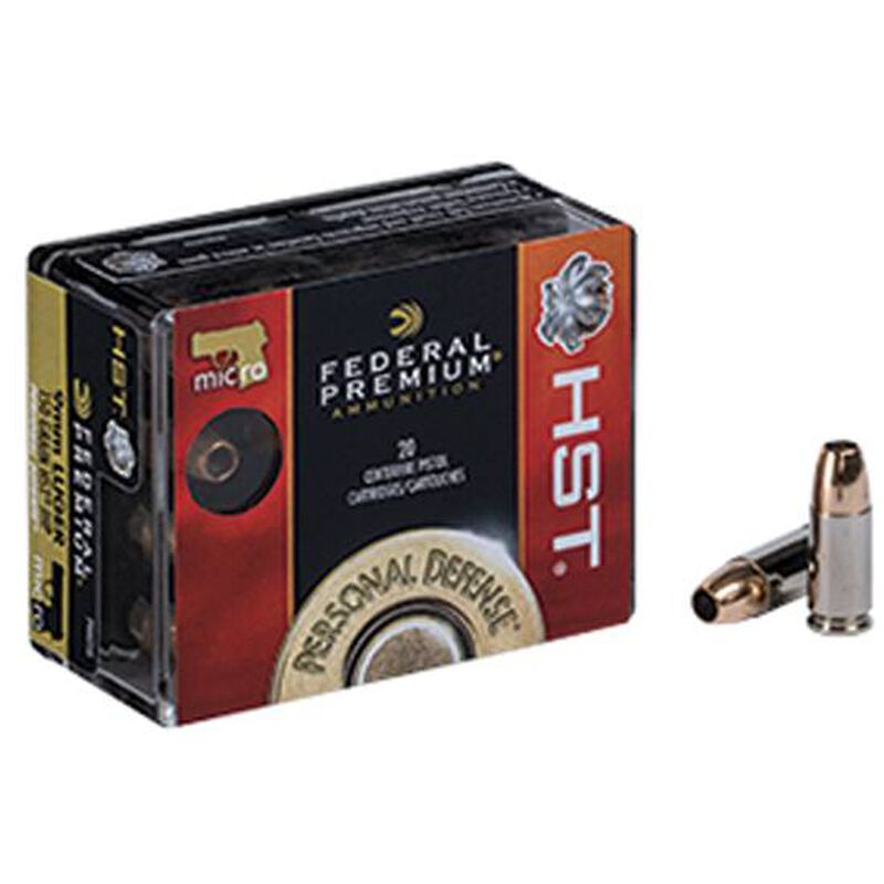 Federal Premium Personal Defense 9mm Luger Ammunition 20 Rounds HST JHP 150 Grain