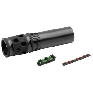 TRUGLO Remington Pro Bore 12 Gauge Gobble Stopper Extreme Extended Ported Turkey Choke Steel Blued with Gobble-Dot Dual Color Fiber Optic Sights Set TG170AXC