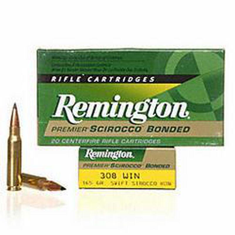 Ammo  308 Win Remington Premier 165 Grain Scirocco Bonded Bullet 2700 fps  20 Rounds PRSC308WB