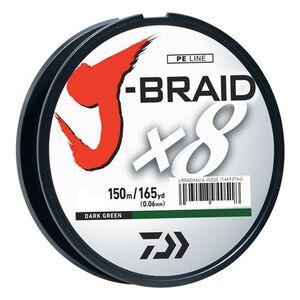 J-Braid Braided Line, 15 lbs Tested 165 Yards/150m Filler Spool, Dark Green