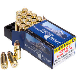Magnum Research Glacier Ridge .429 DE Ammunition 20 Rounds JHP 210 Grain 1750fps
