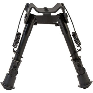 "Caldwell XLA Fixed Bipod 6"" to 9"" Height M-Lok or KeyMod Attachment Spring Loaded Legs Black"