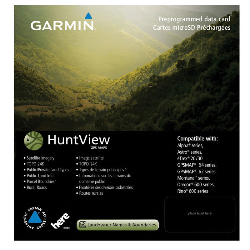 Garmin HUNTVIEW GPS MAP Georgia micro SD Card