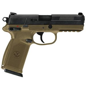 "FNH USA FNX-45 Semi Automatic Pistol .45 ACP 4.5"" Barrel 10 Rounds Polymer Frame Flat Dark Earth with Black Slide 66965"