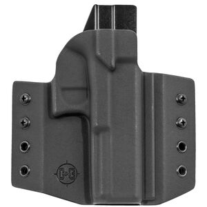 C&G Holsters Covert OWB Holster for GLOCK 17/22/31 Right Hand Draw Kydex Black