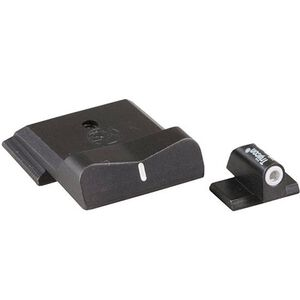 XS Sight Systems DXW Standard Dot Night Sights S&W M&P Shield Green Tritium Front/Solid White Rear Matte Black