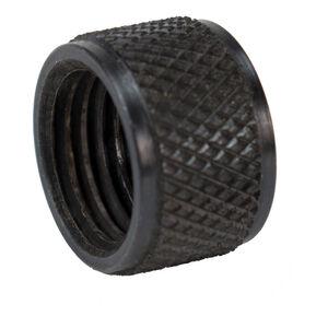 DELTAC Knurled Barrel Thread Protector 1/2-20 TPI Steel Black TP101