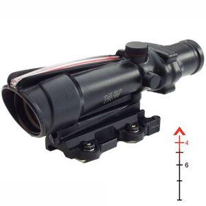 Trijicon ACOG TA11F 3.5x35 Rifle Scope Illuminated Red Chevron BAC .223 Ballistic Reticle 1/3 MOA with TA51 Mount Aluminum Black TA11F