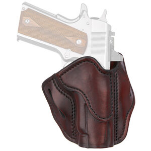 1791 Gunleather Optic Ready Open Top Multi-Fit 1S OWB Belt Holster for Compact 1911 Semi Auto Models Right Hand Draw Leather Signature Brown