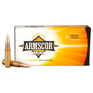 Armscor USA .308 Win Ammunition 20 Rounds 165 Grain Nosler Accubond Polymer Tipped 2500 fps