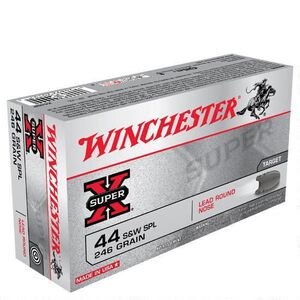 Winchester Super X .44 Special Ammunition 500 Rounds, LRN, 246 Grain