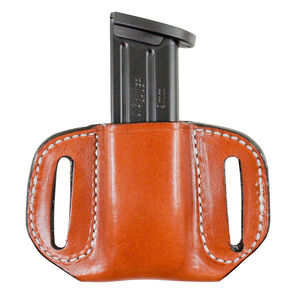"Desantis Gunhide Reliant Mag Pouch OWB Diamondback 9/40 1.75"" Belt Tan"