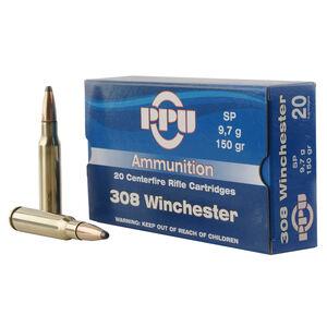 Prvi Partizan PPU .308 Winchester Ammunition 20 Rounds 150 Grain Soft Point 2690fps