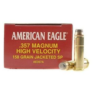 Federal American Eagle .357 Magnum Ammunition 50 Rounds 158 Grain Jacketed Soft Point 1240fps