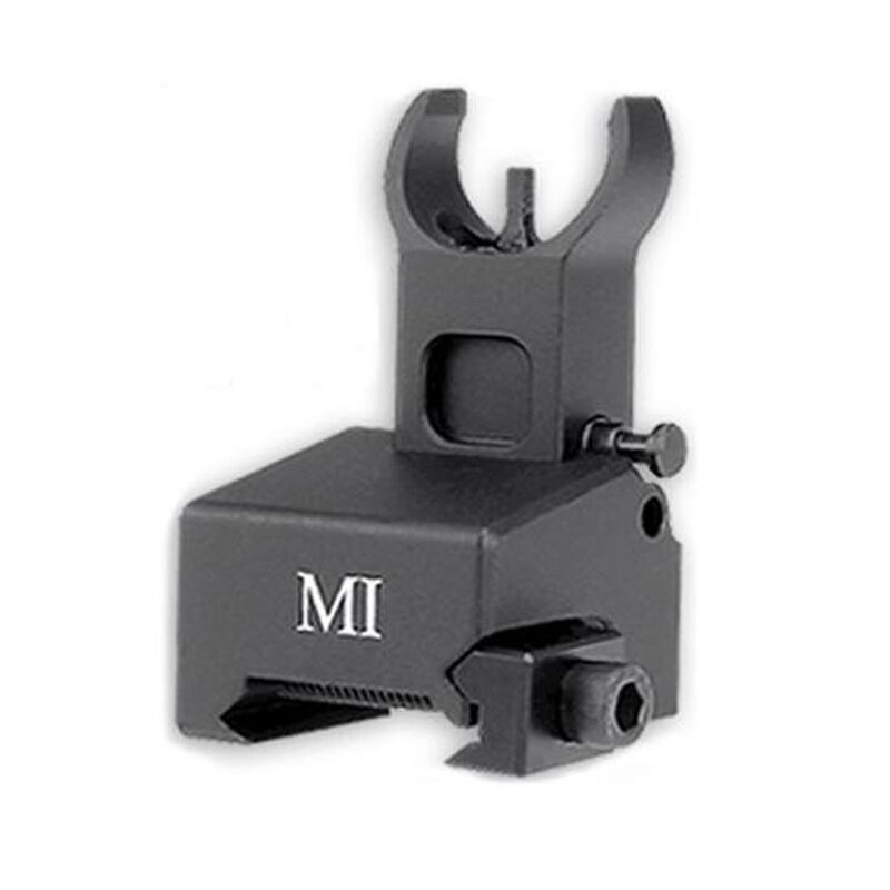 Midwest Industries AR15 BUIS Low Profile Flip-Up Front Sight Gas Block Picatinny Black