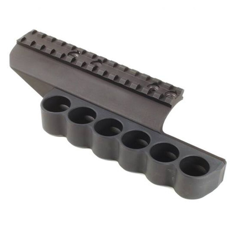 Mesa Tactical SureShell Six Round Shotshell Carrier with Picatinny Rail Benelli Supernova Tactical Aluminum Black 92010