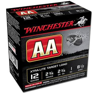"Winchester AA Xtra-Lite 12 Ga 2.75"" #8.5 Lead 1oz 250 rds"