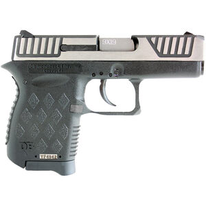 "Diamondback DB9SL 9mm Luger Semi Auto Pistol 3"" Barrel 6 Rounds Two Tone Black Polymer Frame Stainless Finish"