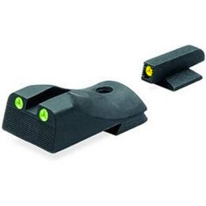Meprolight Hyper-Bright Tritium Day and Night Wedge Sight Front Phosphorescent Yellow Ring/Rear Green for Kimber 1911