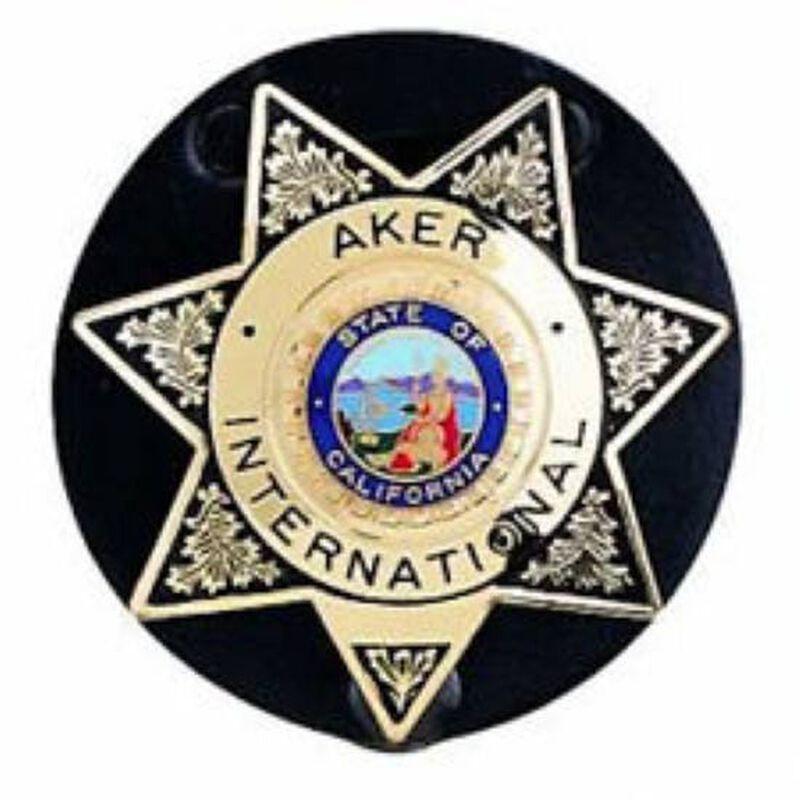 Aker Leather Clip On Star Badge Holder