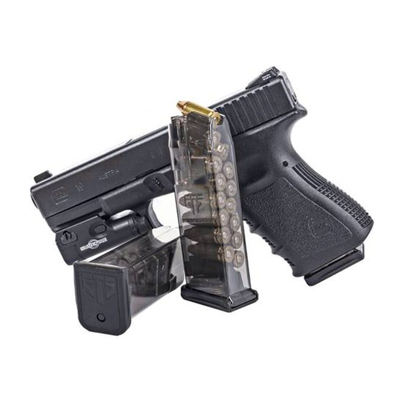 Elite Tactical Systems Magazine For GLOCK 19/26 9mm 15 Rounds Clear Polymer GLK-19