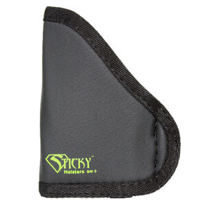 Sticky Holster SM-5 Small Modified For Light/Laser IWB Holster Ambidextrous Small Semi Auto Pistols Sticky Skin Material Matte Black Finish