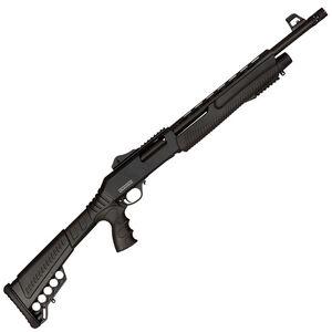 "Dickinson XX3D-2 Tactical Pump Action Shotgun 12 Gauge 18.5"" Barrel 3"" Chamber 5 Rounds with Heat Shield Pistol Grip Polymer Stock Black"